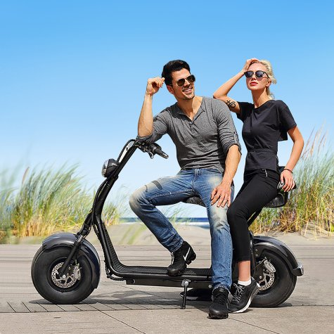 Rent a E-Scooter Chopper Double Seat